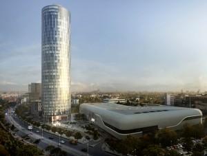 Firma braşoveană SKS a furnizat role textile de 250.000 de euro pentru cea mai înaltă clădire din România