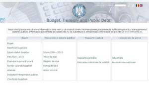 Finanţele au lansat un site special pentru buget