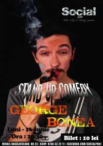 Stand-up comedy cu George Bonea, diseară în Social Pub!