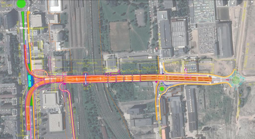 Cum se va circula pe primul pasaj hobanat al Brașovului, care va lega Gara  de Tractorul. Proiectul este la faza obținerii avizului de la Mediu - Biz  Brasov