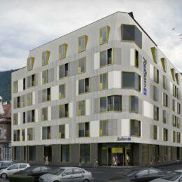 Fațadele hotelului care va lua locul Palatului Telefoanelor au fost modificate de 22 de ori