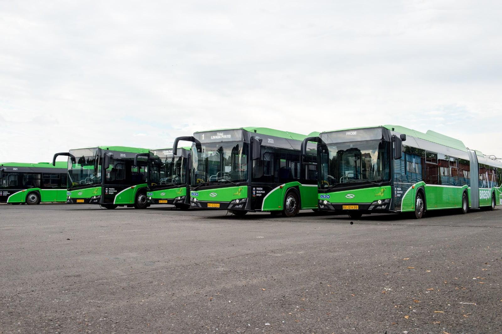 Noile troleibuze Solaris au parcurs 1 milion de kilometri pe străzile Brașovului în mai puțin de un an