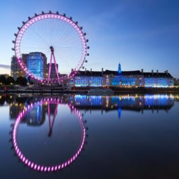 30 July 2020, England, London: A general view of the London Eye ahead of its reopening on 01 August. Photo: John Walton/PA Wire/dpa