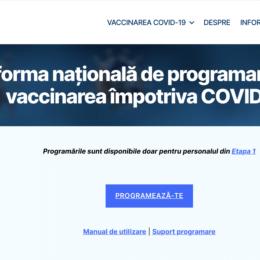 Programarea online pentru vaccinarea împotriva COVID-19 a celor din cea de-a doua etapă va începe de la ora 15.00