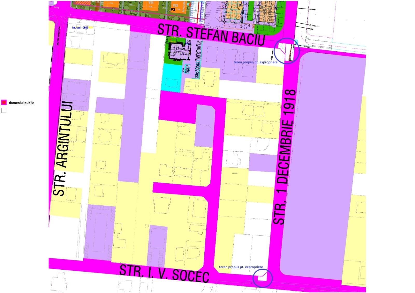 Două bucăți de intersecție din noua zonă a cartierului Tractorul vor fi expropriate pe banii unui dezvoltator imobiliar, astfel încât să se poată efectua amenajările rutiere