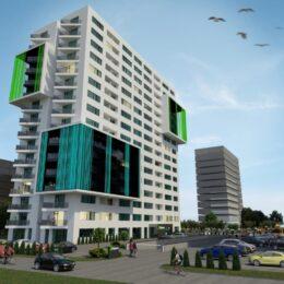 Dezvoltatorul proiectului  brașovean Sunnyville a finalizat construcția primului turn cu 15 etaje din Timișoara. Investiția s-a ridicat la 12 milioane de euro