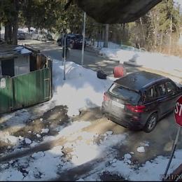 VIDEO Un constănțean își aruncă fără nici o jenă gunoiul la marginea unei străzi din Predeal