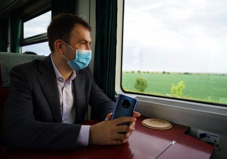 Ministrul Transporturilor Cătălin Drulal, călătorie tren CFR