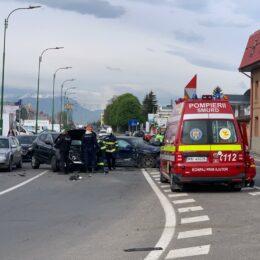 Accident grav pe Șoseaua Cristianului, cu trei mașini implicate