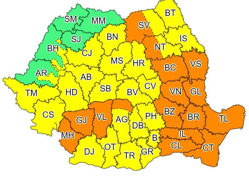 Brașovul rămâne sub Cod galben de ploi și furtuni până mâine noapte