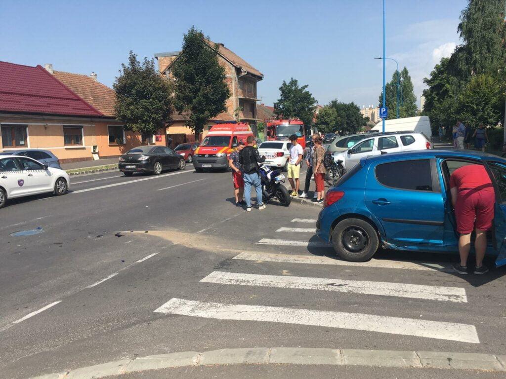 Accident motocicleta Brasov, strada Independentei