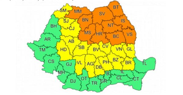 Vremea Brașov, cod galben