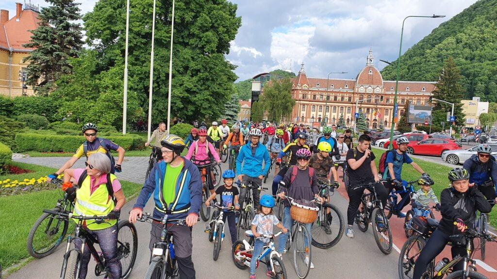 Marșul bicicliștilor Brașov, traseu masa critică Brașov