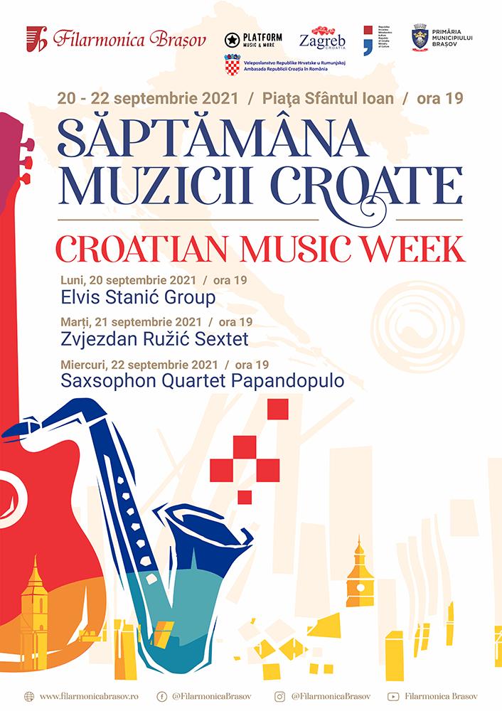 Stagiunea estivală a Filarmonicii Brașov se încheie cu Săptămâna Muzicii Croate