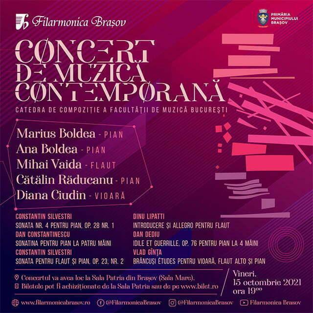 Muzica contemporană din România și din Elveția, pe scena brașoveană