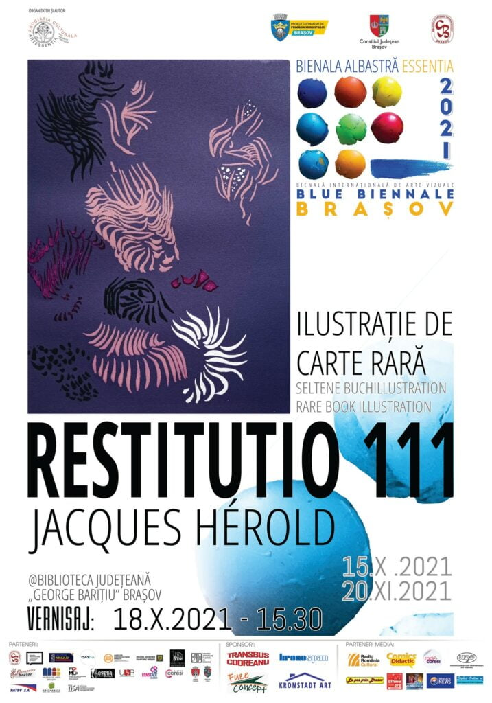 "expozitia de carte rara ""Restitutio 111 – Jacques Hérold"""